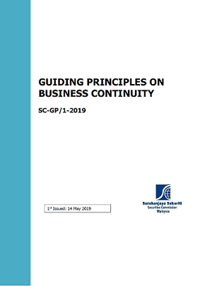 Guiding_principles on Business Continuity Frontpage
